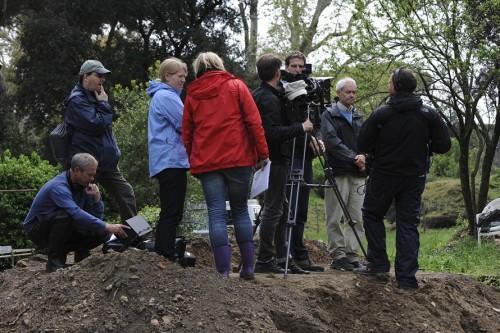 BBC filming at Portus. Photo Hembo Pagi