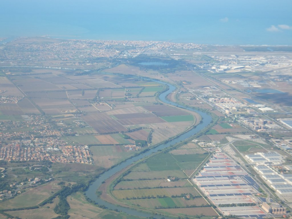 Portus looking westwards towards the Tyrrhenian sea